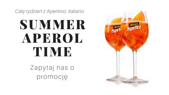 Promocja na aperitif włoski Aperol Spritz w Osteria le Botti Tychy