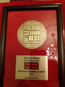 Best of Award of Excellence Osteria le botti Tychy