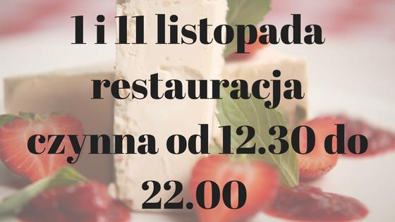 Godziny otwarcia Osteria le botti 1 i 11 listopada