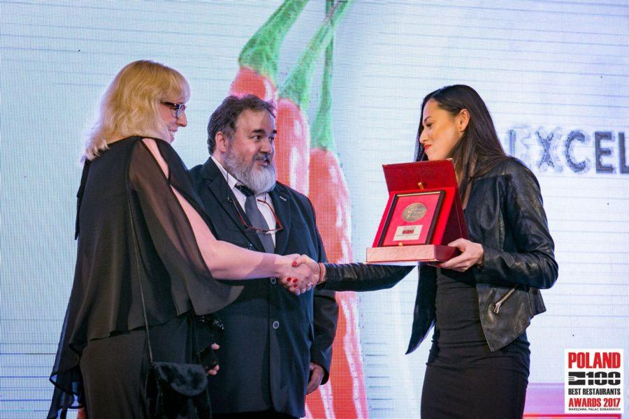 Best of Award of Excellence dla Osteria le botti w konkursie Poland 100 Best Restaurants