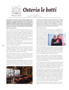 Tekst o Osteria le botti w Gazzetta Italia