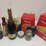 Świąteczne produkty w Osteria le botti