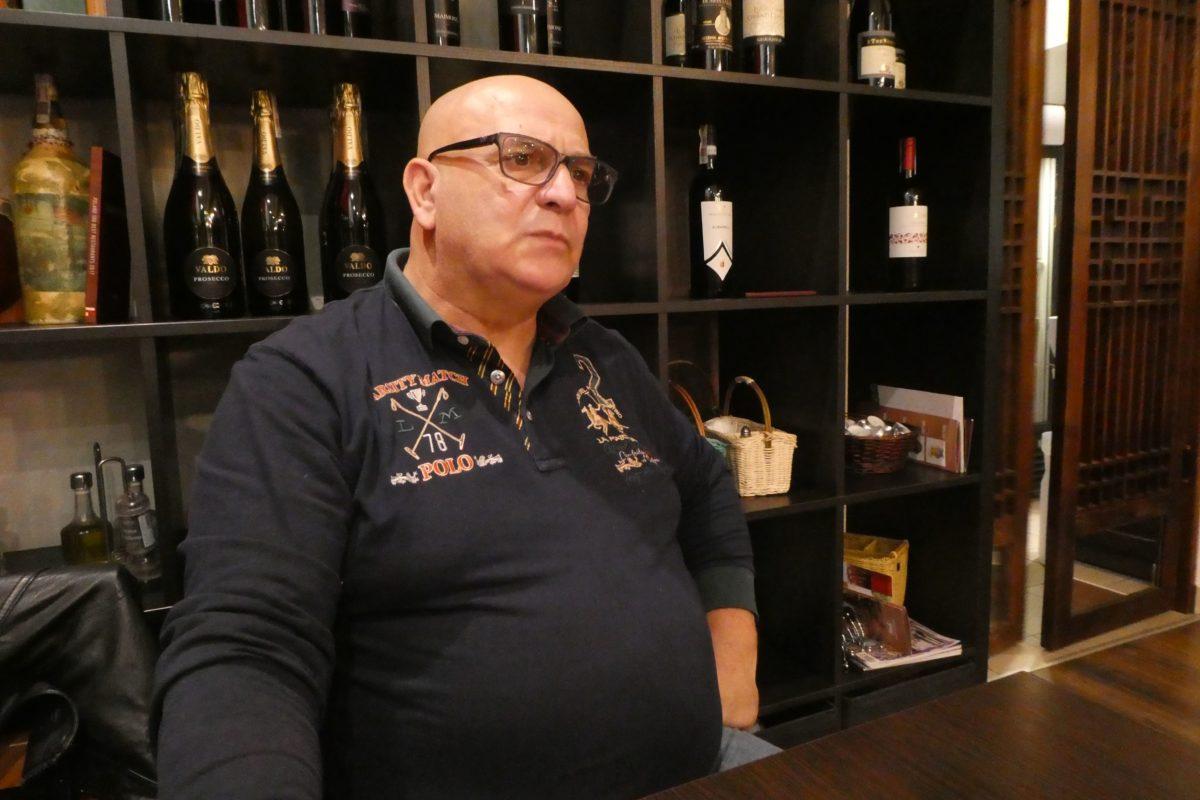 Szef Giancarlo Russo w Osteria le botti